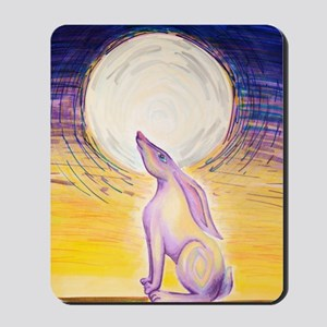 Moon Gazing Hare Mousepad